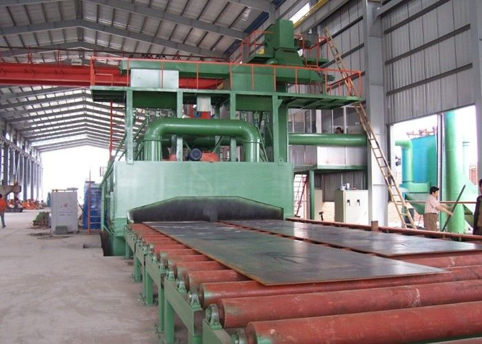 Steel Structure Roller Conveyor Shot Blasting Machine Rust Removing ISO9001