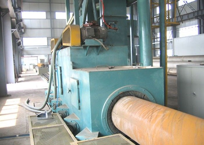 High Speed Steel Pipe Shot Blasting Machine Anti - Fatigue Grey Color 4m / S